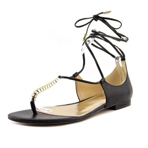 Marc Fisher Shoes - Marc Fisher Extra 3 Black Gladiator Lace Up Sandal